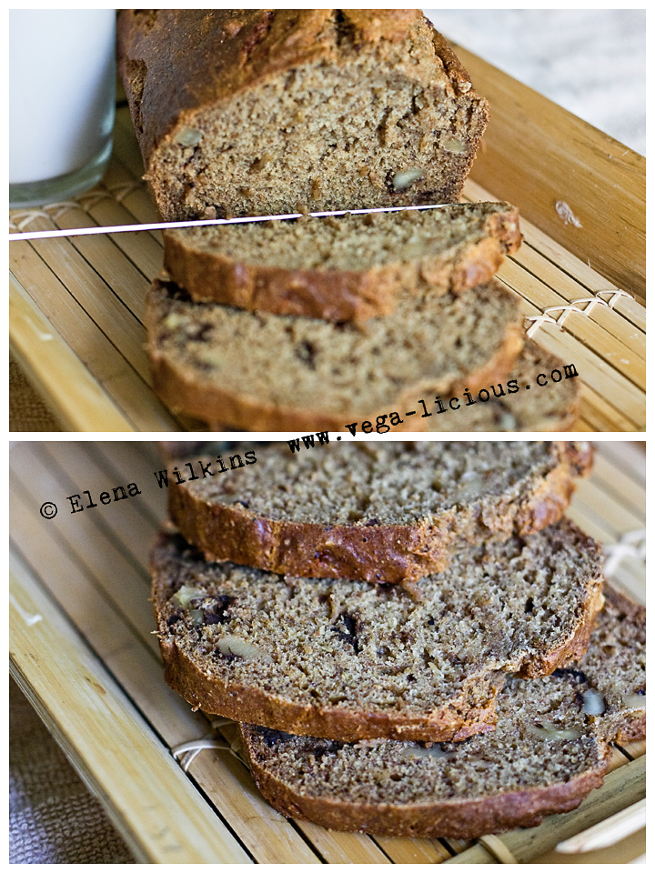 oil free banana bread, sugar free banana bread, vegan banana bread
