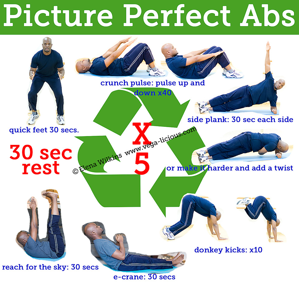 15 minute picture perfect abs workout routine vegalicious for Floor ab workouts