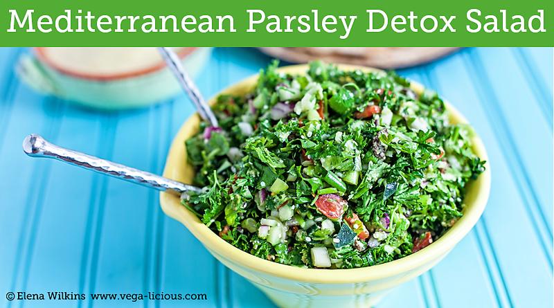Mediterranean Detox Parsley Salad Vegalicious