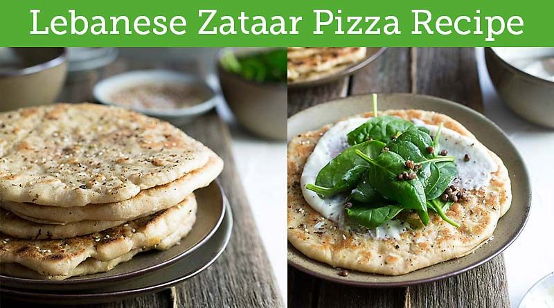 Vegan Lebanese Zataar Pizza Recipe