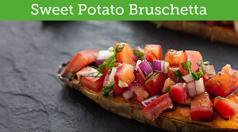 Sweet Potato Toast Vegan Bruschetta